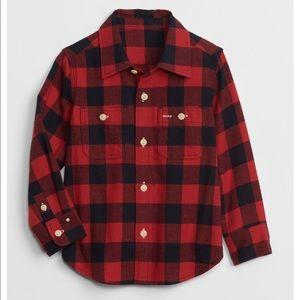 Baby Gap - Plaid/Checked Red Shirt and Pant set